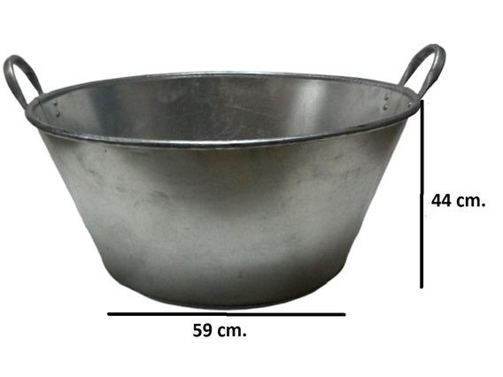 Paila Cazo Para Chicharrones Carnitas Galvanizada 85 Cm.