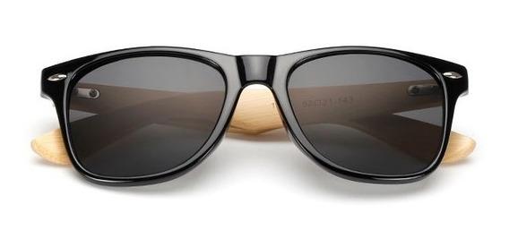 Óculos De Sol Bambu Diversas Cores Frete Grátis