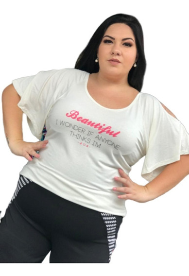5 Blusas Femininas Tamanhos Plus Size Kit Revenda Atacado!!