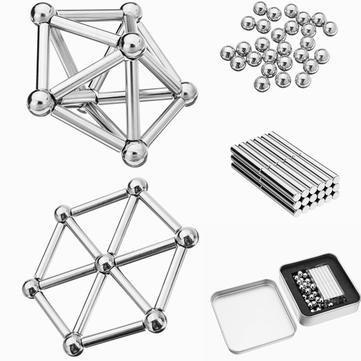 4 Brinquedo Educativo Magnético De Montar Imã 63 Peças