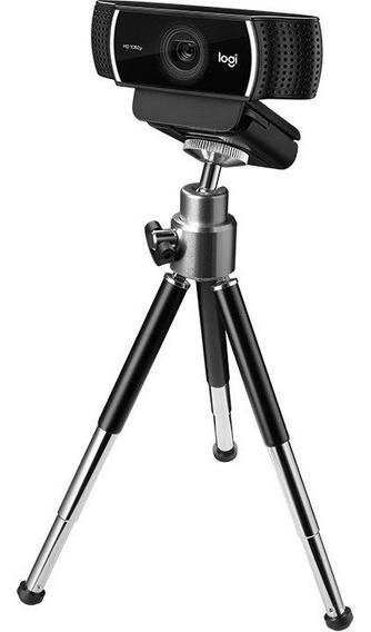 Webcam Câmera Logitech C922 1080p 60fps Tripé Youtuber Streamer Microfone Xbox One Ñ C920 Nota Fiscal
