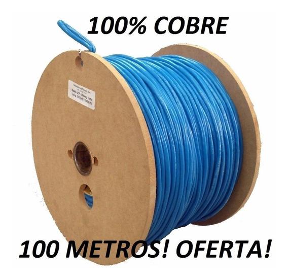 Cable Utp Cat5e 100 Metros 100% Cobre. Cctv Elecon Azul