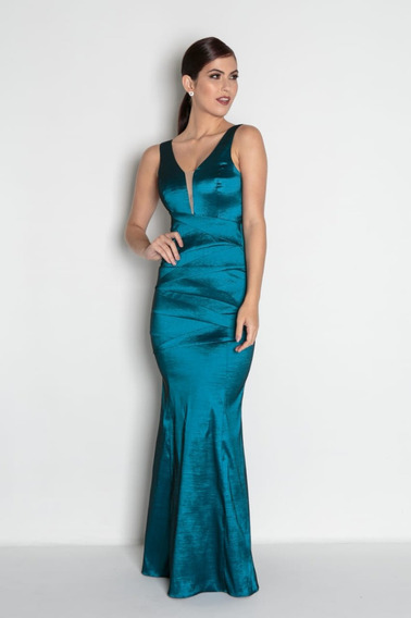 Vestido Madrinha Sereia Longo Marsala Azul Verde Cinza