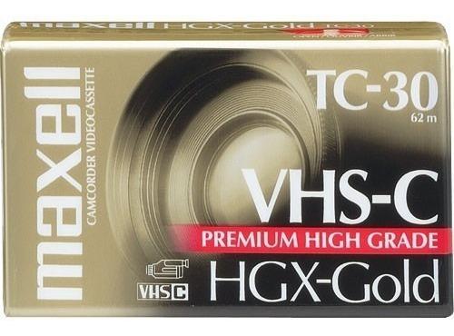 Fita Vhs-c Tc-30 Maxell Hgx-gold Premium 30min