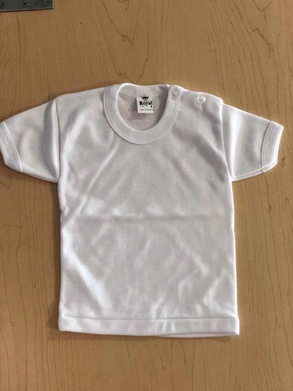 Camiseta De Manga Corta 100% Algodón