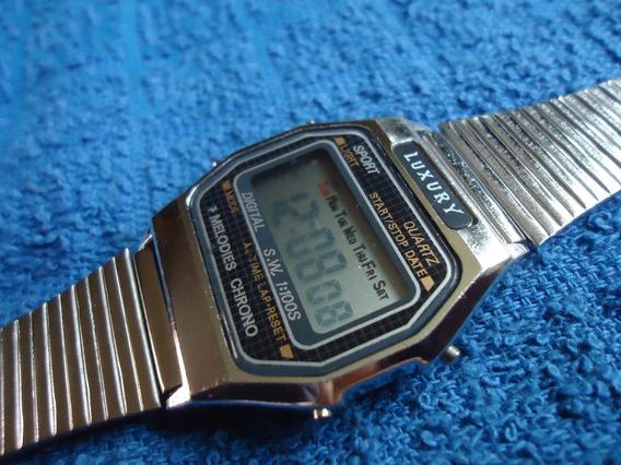 Luxury Reloj Digital Vintage 7 Melodias