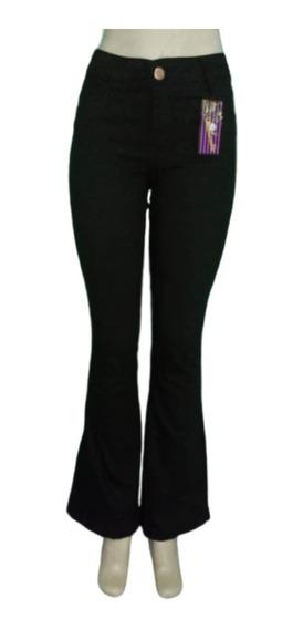 Calça Flare Preta 3 Calça Jeans Feminina Cintura Alta Hot Pa