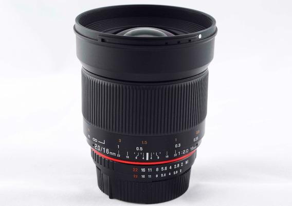 Lente Nikon 16mm F2 Rokinon