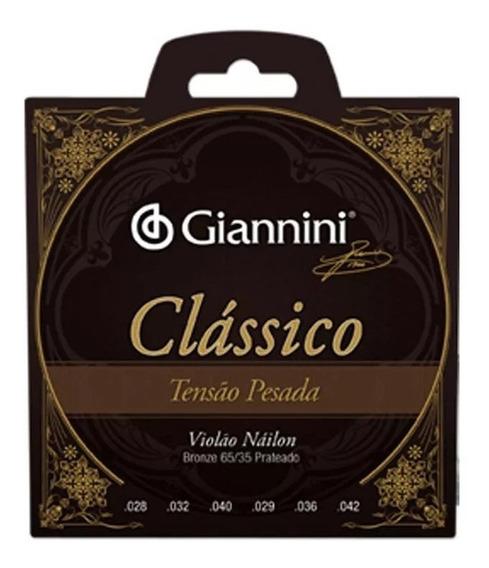Encordoamento Violão Nylon Giannini Classico Tensão Pesada