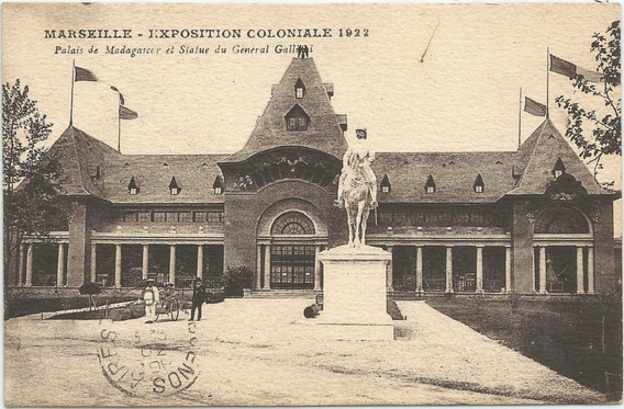 Antigua Postal Exposición Marsella 1922