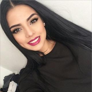 Peluca Natural De Cabello Largo Liso A La Moda Negro