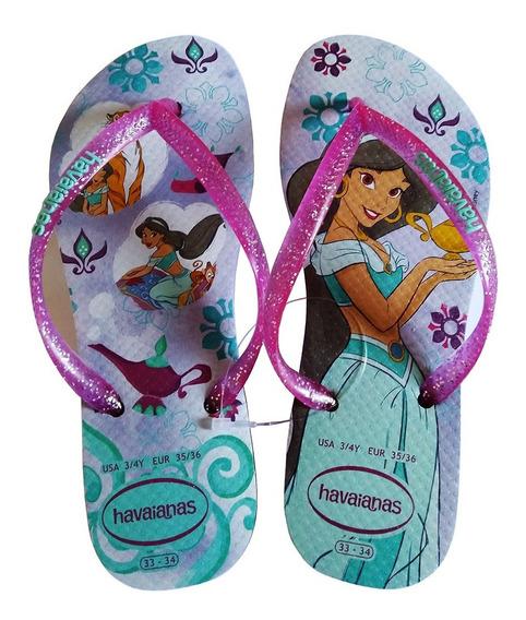 Sandalia Havaianas Kids Slim Princesas Disney Jasmine