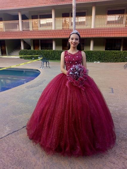 Vestidos Xv Anos Color Guinda En Mercado Libre México