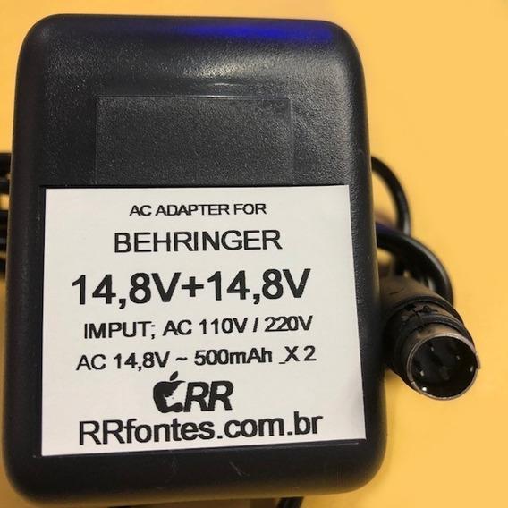 Fonte Behringer 14,8v 500ma Mx 6 Psu6 Xenyx 1002fx 1202fx