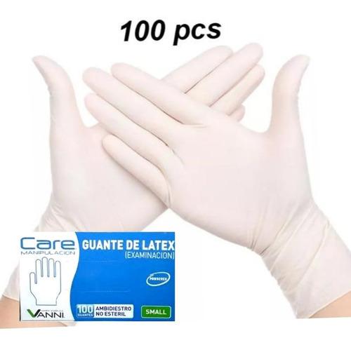Guantes De Latex, Caja 100 Unid, Envio Inmediato