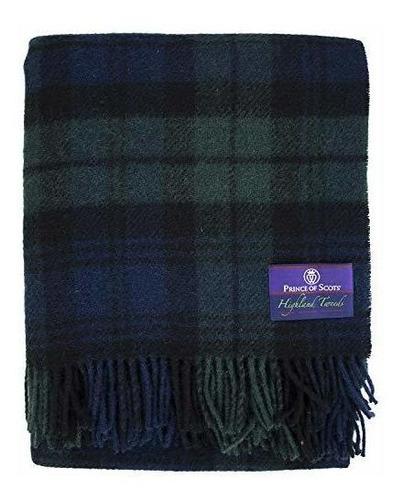 Prince Of Scots Highland Tartan Tweed 100% Puro Nuevo Lanzam