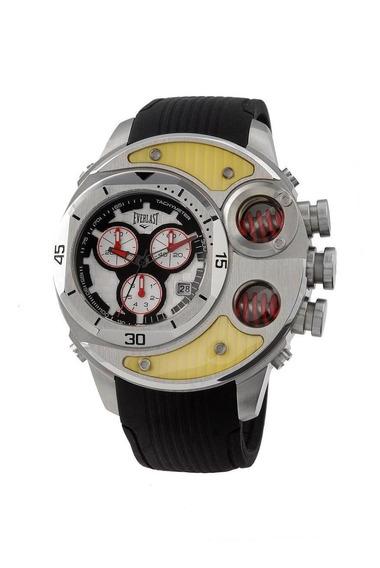 Relógio Pulso Everlast Masculino Cronografo Aço E521