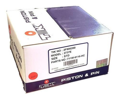 Imagen 1 de 2 de Pistones Con Pernos 80.96mm Std Ford Escort 1.6 Pamperito