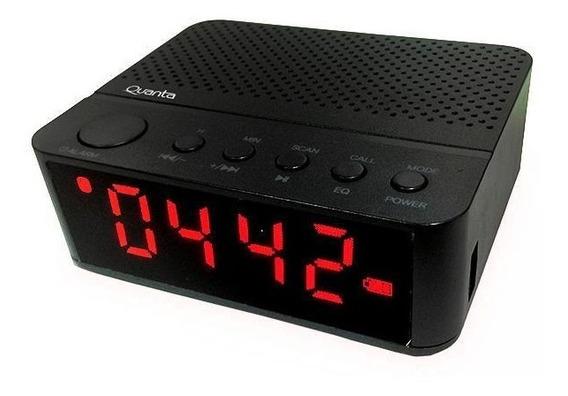 Radio Relogio Quanta Bluetooth Usb Sd Mp3 Fm Aux