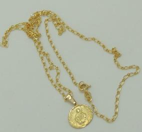 Colar Com Medalha São Judas Tadeu Ouro 56 Cm Promoção