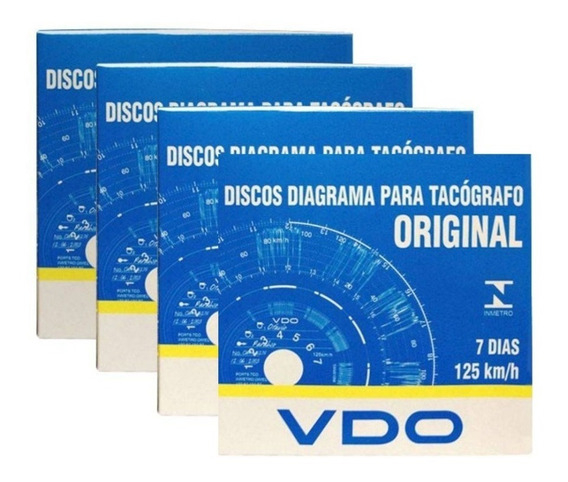 Disco Tacógrafo Vdo Original 125km 7 Dias Semanal 4 Cx 280d