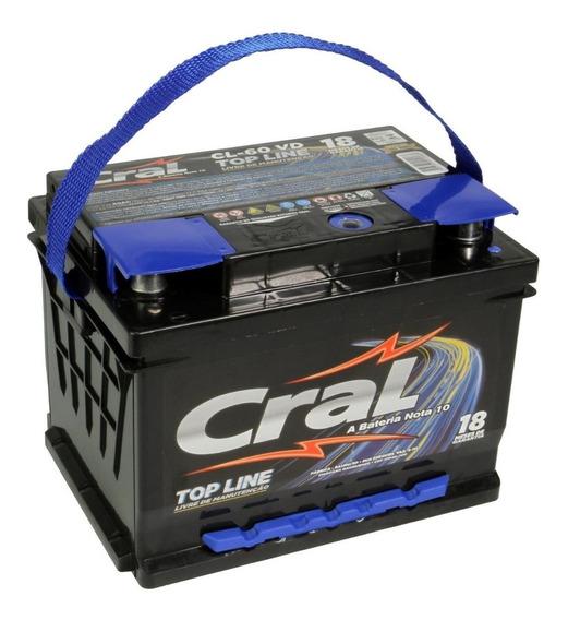 Bateria Automotiva Selada Cral 60 Amperes Topline