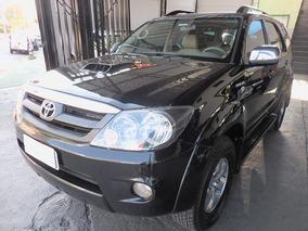 Toyota Hilux Sw4 3.0 D4d 4x4 2008 Preta Revisada Inigualavel
