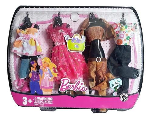 Kit C/ 4 Conjuntos De Roupinhas Para Bonecas Barbie E Outras