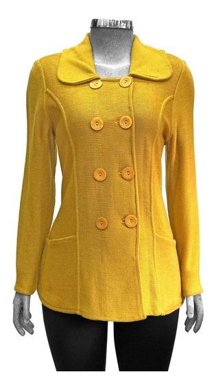 Suéter 8 Botones Tejido Tipo Abrigo
