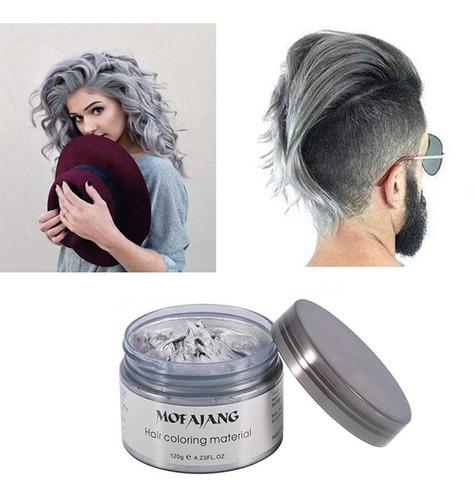 Mofajang Silver Grey Hair Color Wax, Natural Hairstyle Wax 4