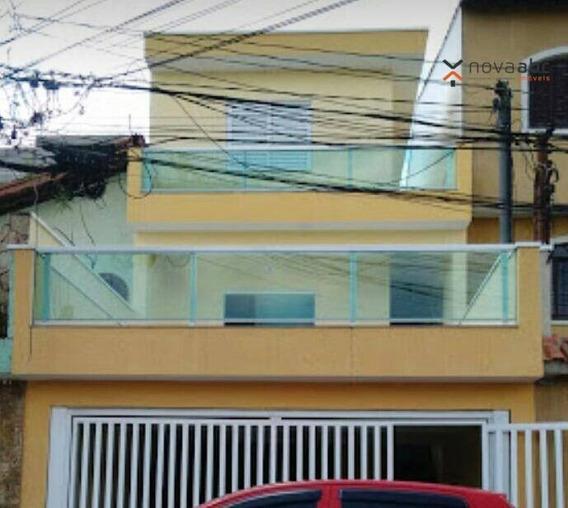 Sobrado Com 3 Suítes E 3 Vagas Na Vila Alto De Santo André! - So0257