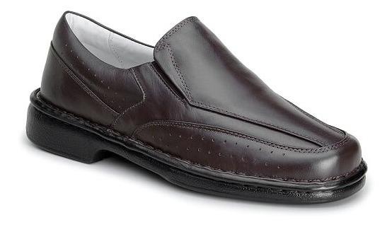 Sapato Masculino Mafisa Alcalay Ortopédico+calçadeira 3cores