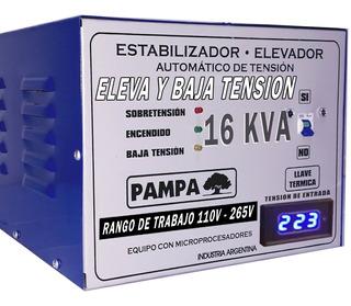 Elevador De Tensión Automático 16kva Eleva Baja 110v - 265v