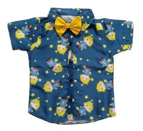 Camisa Infantil Social Temática Pequeno Príncipe Roupafesta