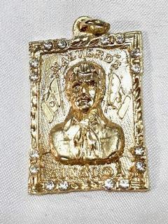 Dije Jesús Malverde Oro Laminado 18k Zirconias Envio Gratis