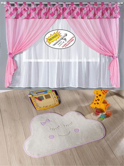 Cortina Tapete Decoração Infantil Formato Nuvem Com Brinde