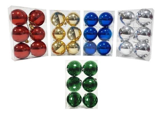 Set Bolas De Navidad Arbol Decoracion Adorno X12 De 7cm