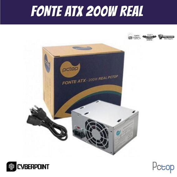 Fonte Atx 200w Real Com Cabo De Forca - Fpa200c
