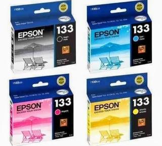 Cartuchos Epson 133 X 4 - Originales