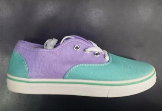 Zapatos Casuales Deportivos Dama Tipo Vans Talla 37 230mi