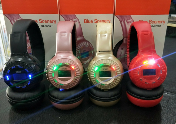 Audifonos N76bt Inalambricos Sd Bluetooth Luces 14$ Al Mayor