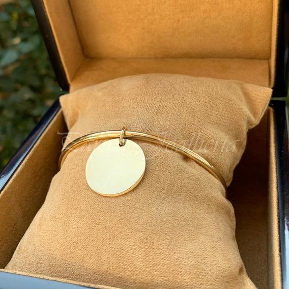 Bracelete Com Pingente Em Ouro 18k 750 20 Gramas Maciço