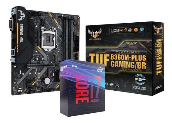Kit Processador Intel I7 9700k Tuf B360m Lga1151 9ª Geração