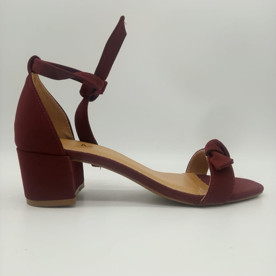 Sandália Sapatos Feminino Salto Baixo Conforto Macio