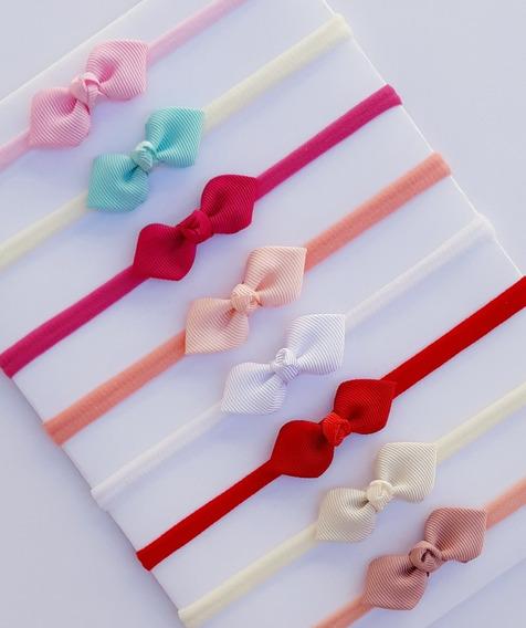 Lacinho Mini Kit Com 8 Faixinhas Bebê Mercado Full Menina