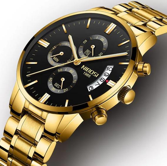 Relógio Nibosi,luxuoso/original/promoção,barato,funcional