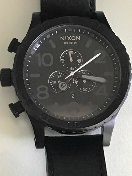 Relógio Nixon Allblack Analógico Autêntico - Couro Legítimo