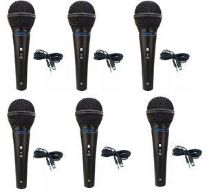 6 Microfone Devox Dx-48 + Cabo Xlr/p10