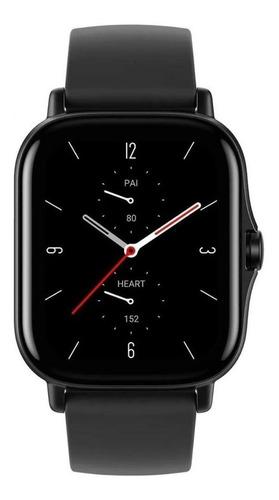 """Smartwatch Amazfit Fashion GTS 2e 1.65"""" caja de  aleación de aluminio malla  obsidian black de  silicona A2021"""