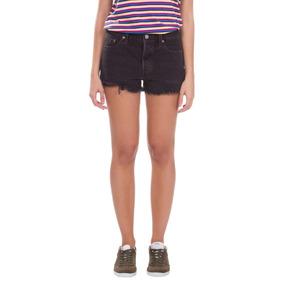 Shorts Jeans Levis Feminino 501 Preto